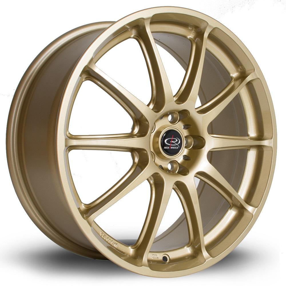 rota gra 18 zoll 7 5j 5x100 et48 gold jv imports cars. Black Bedroom Furniture Sets. Home Design Ideas