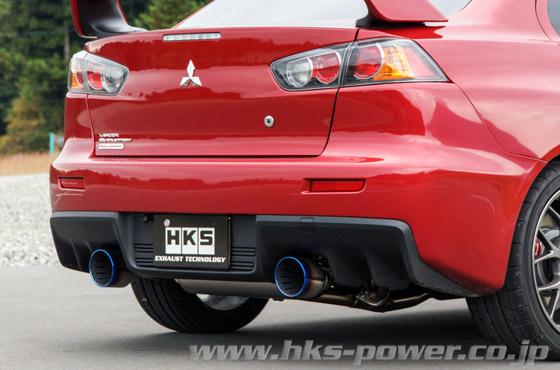 hks super turbo muffler auspuffanlage für mitsubishi lancer evo 10 x