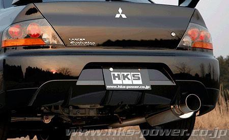 hks silent hi power catback auspuffanlage für mitsubishi lancer