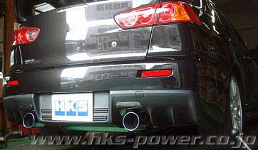 hks legamax premium auspuffanlage für mitsubishi lancer evo x 10