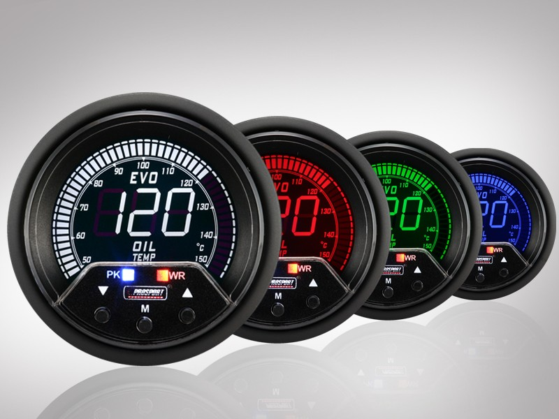 Prosport Abgastemperatur Anzeige Racing Premium Serie Blau//Weiss 60mm